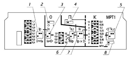 Схема на блок защиты мрт