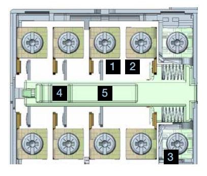 Конструкция контактора ABB ESB, узлы и детали, запчасти