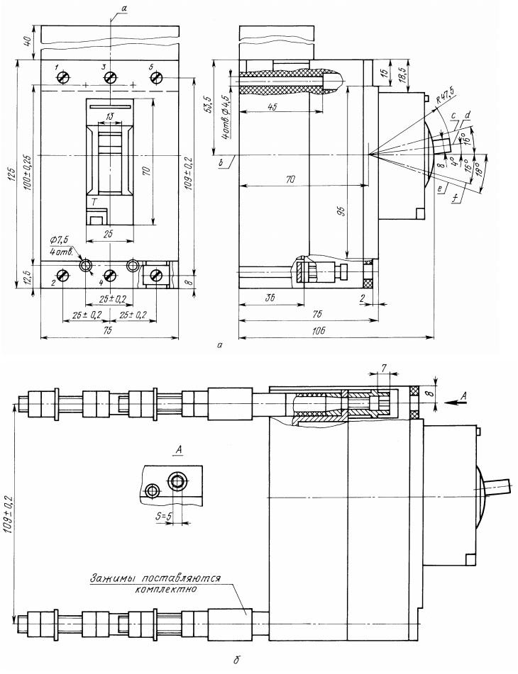 Автомат  ВА59-31 габариты